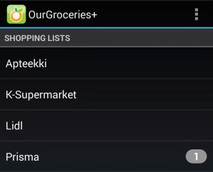 ourgroceries kuvakaappaus